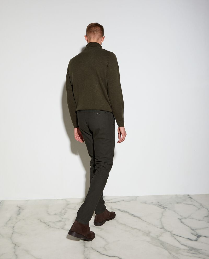 Pantaloni chino spinati slim fit uomo