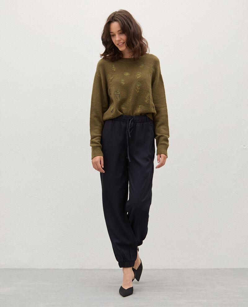 Pantaloni con coulisse donna cover
