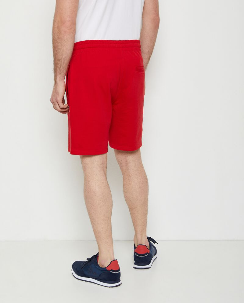 Pantaloncini joggers in puro cotone uomo