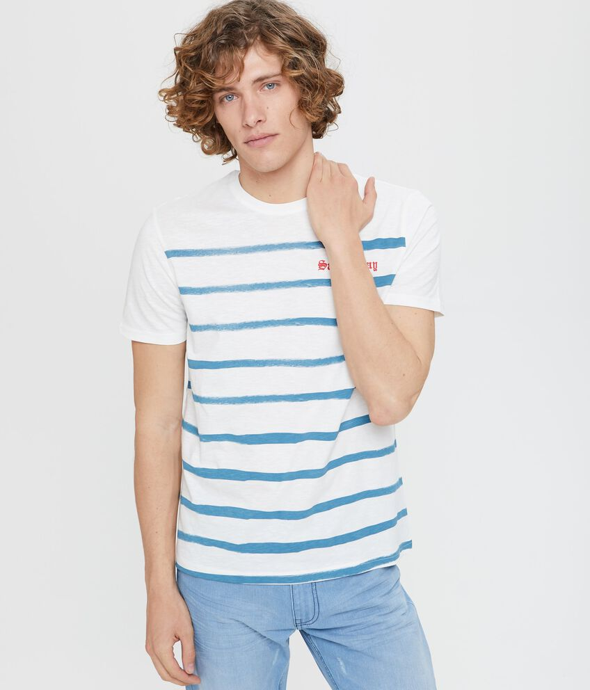 T-shirt girocollo stampa righe