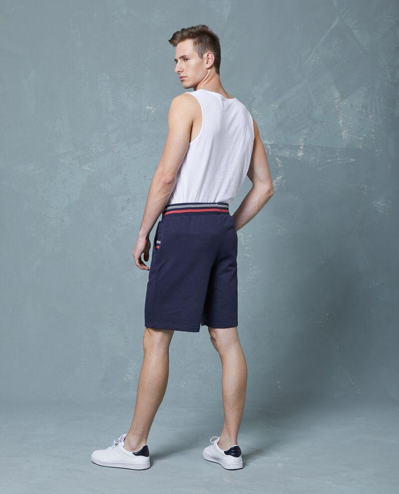 Pantaloncini in cotone uomo tinta unita