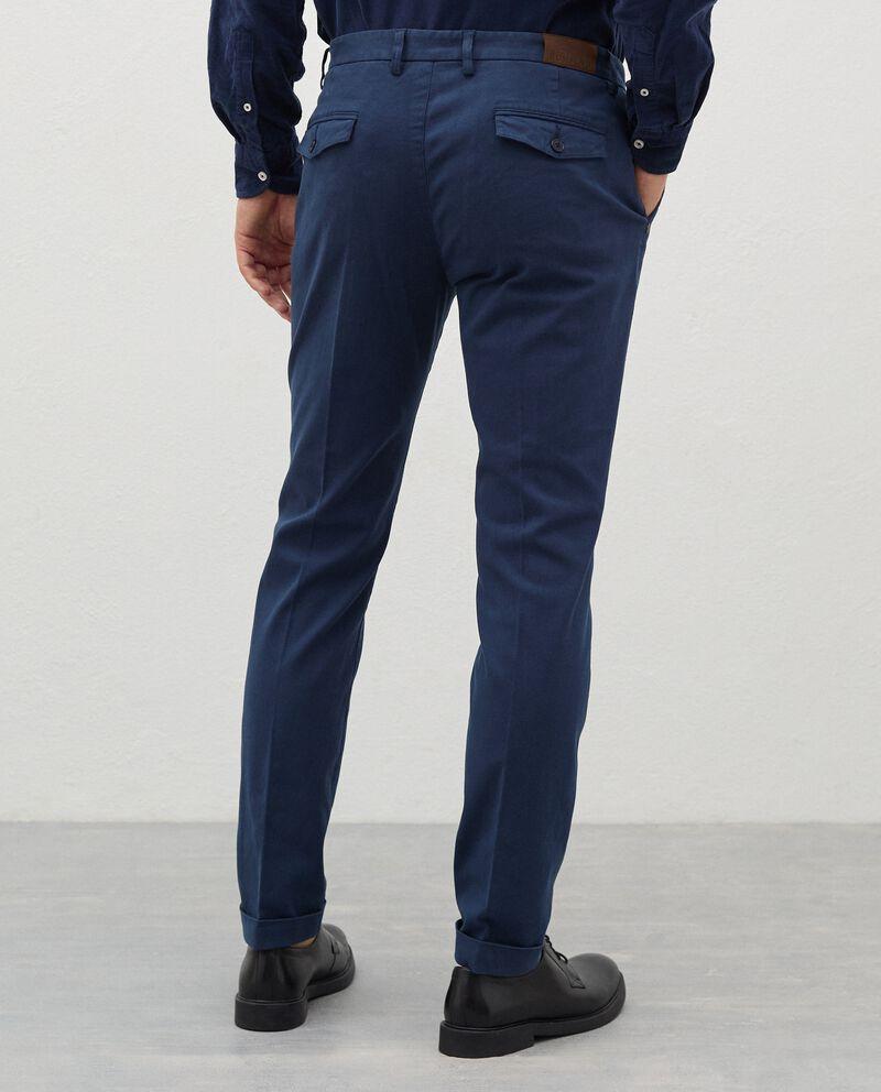 Pantaloni chino in cotone stretch uomodouble bordered 1