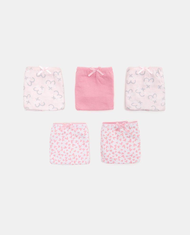 Set con 5 slip di puro cotone biologico bambina cover