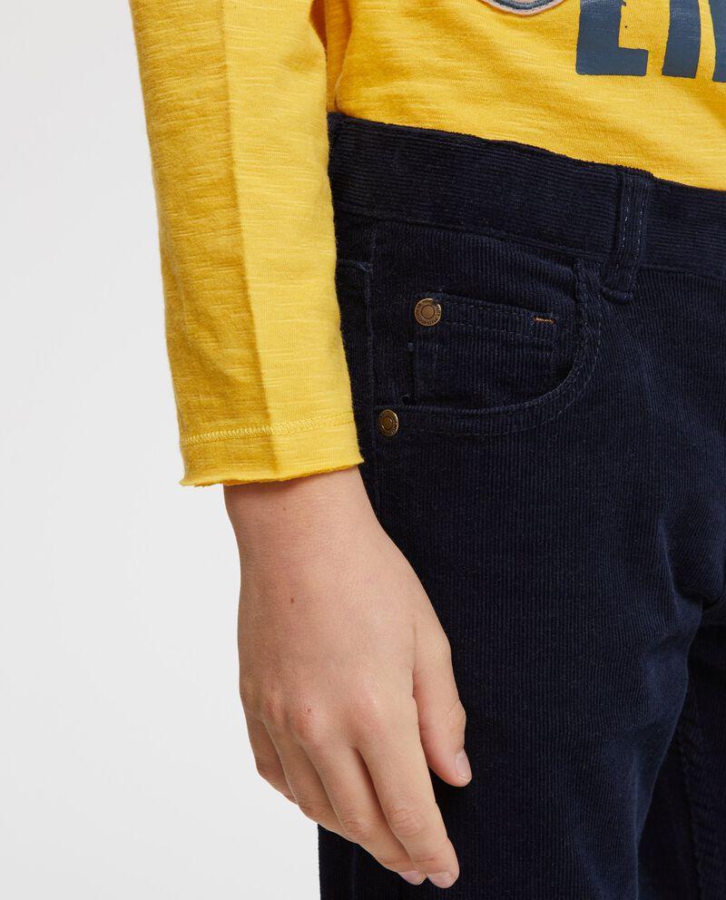 Pantaloni cinque tasche con zip