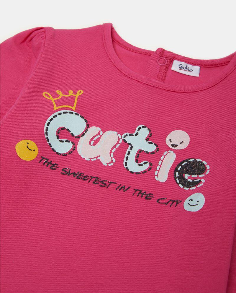 T-shirt con lettering e ruche neonata
