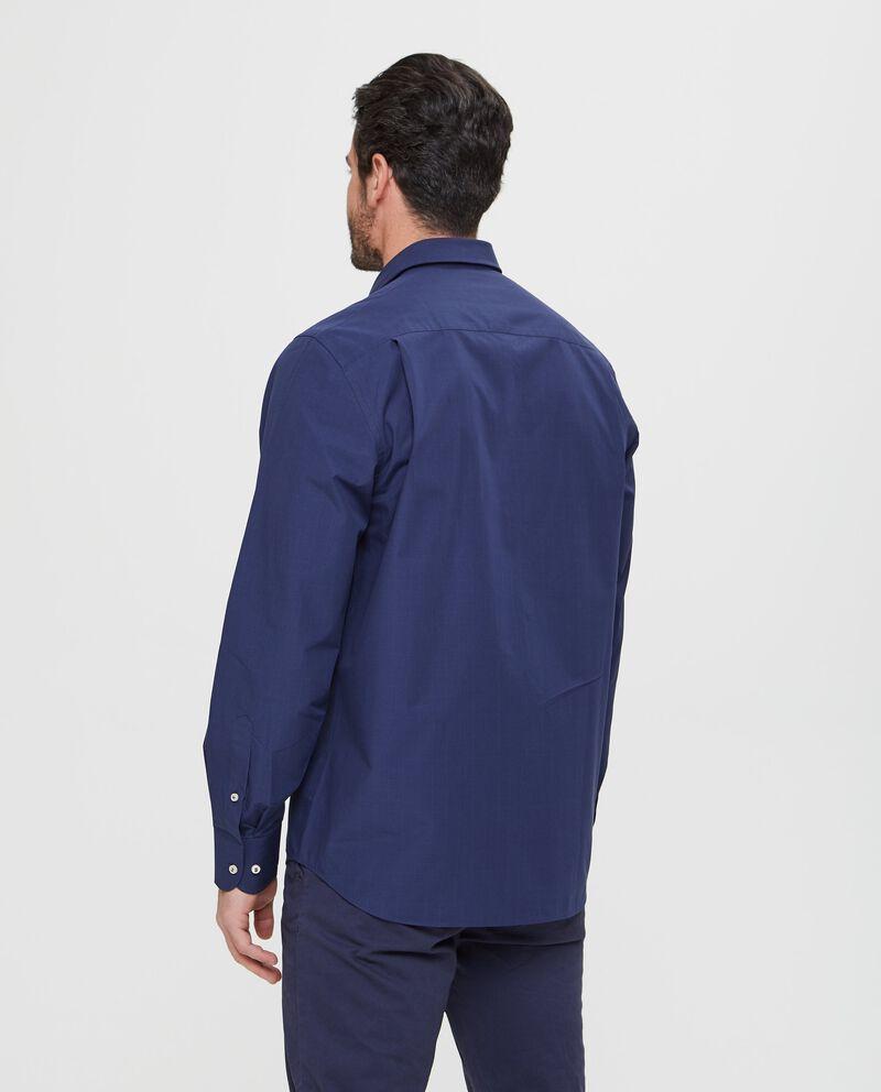 Camicia in puro cotone con micro quadri