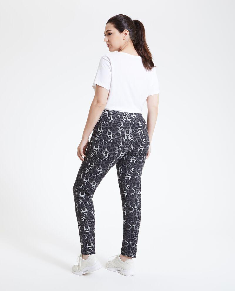 Pantaloni animalier Curvy donna