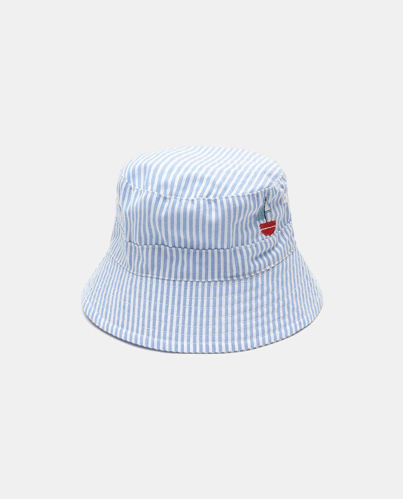 Cappello alla pescatora con ricamo in puro cotone neonato