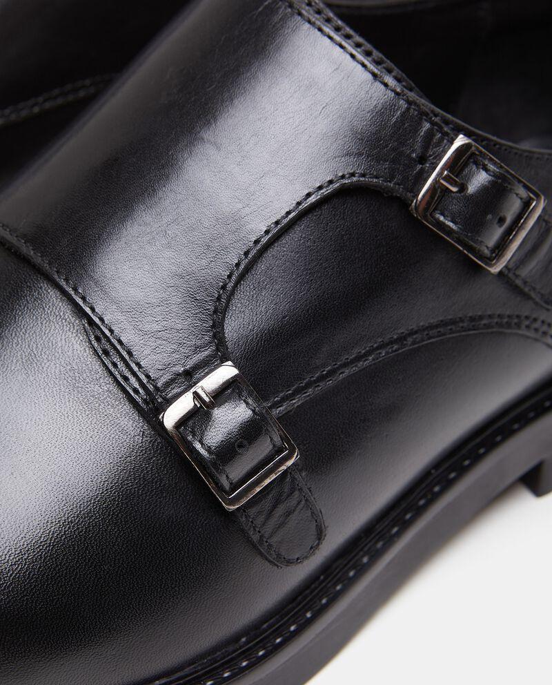 Scarpe doppia fibbia in vera pelle uomo