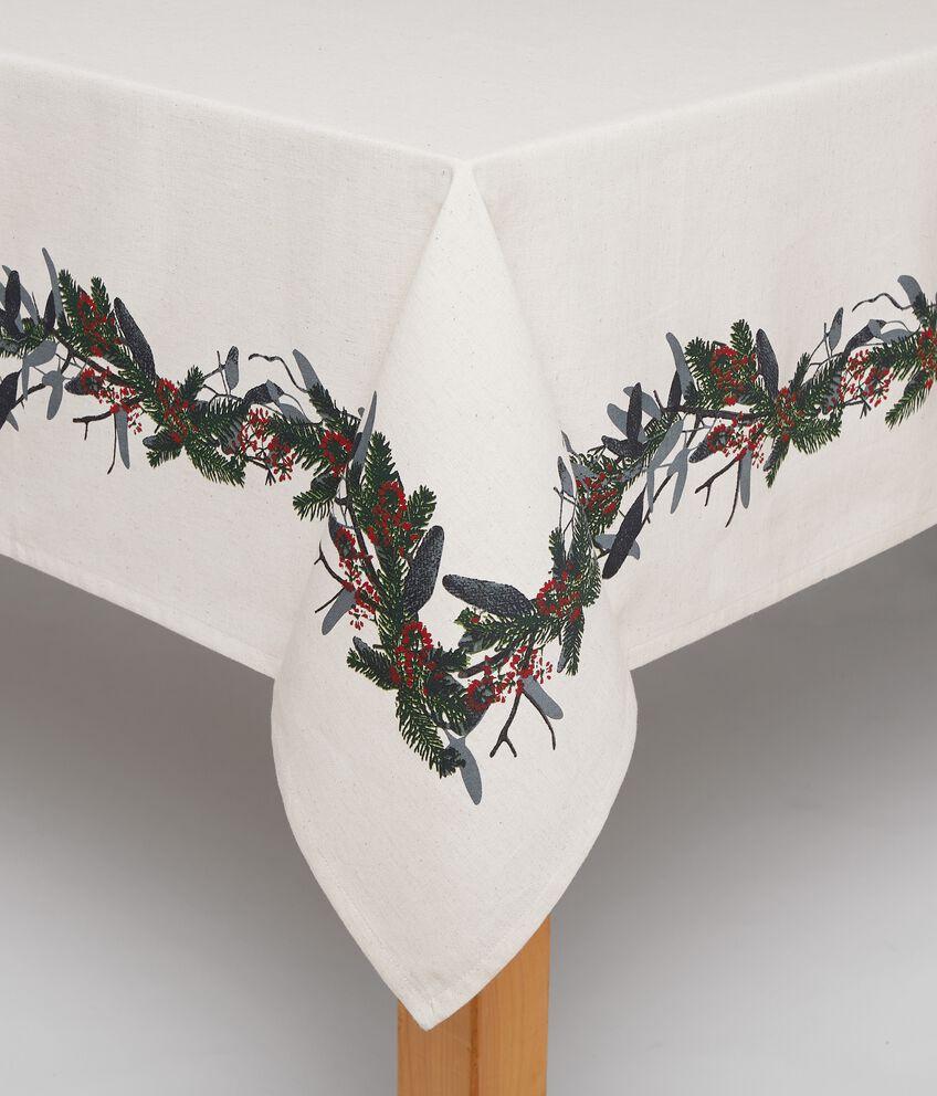 Tovaglia in lino misto cotone natalizia