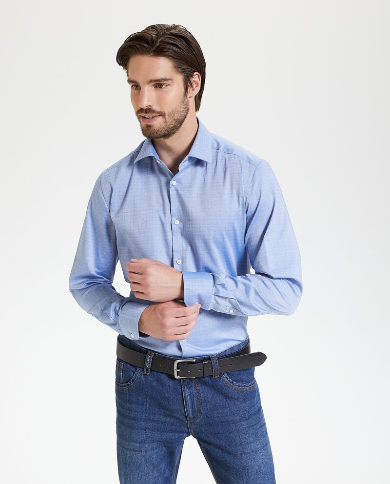 Camicia in puro cotone regular fit uomo single tile 1