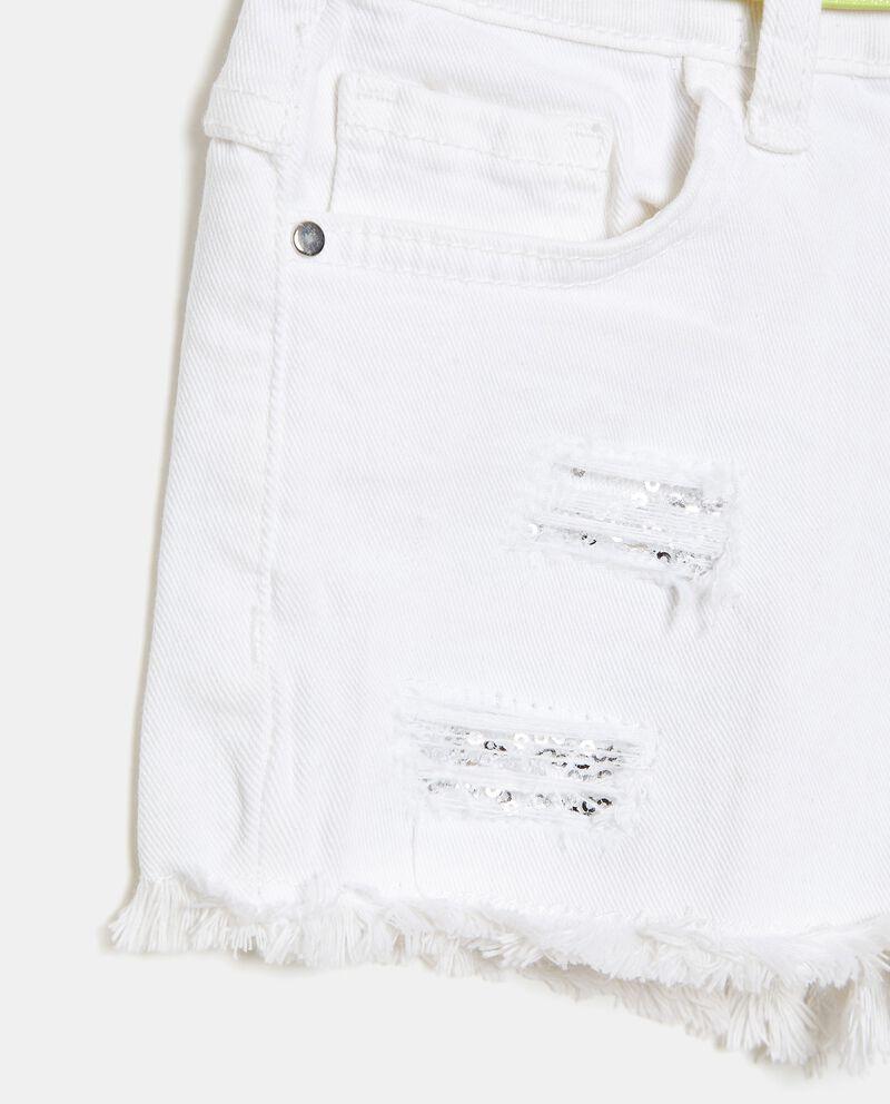 Shorts denim in cotone elasticizzato bambina single tile 1