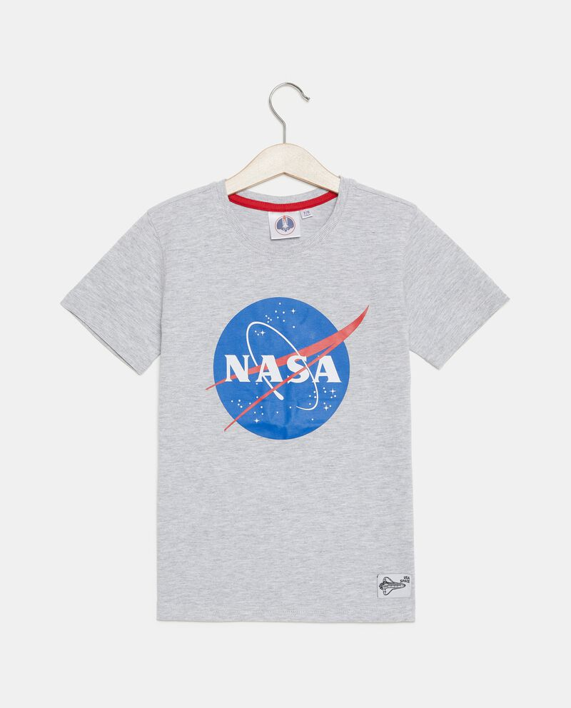 T-shirt in cotone organico con stampa Nasa bambino cover