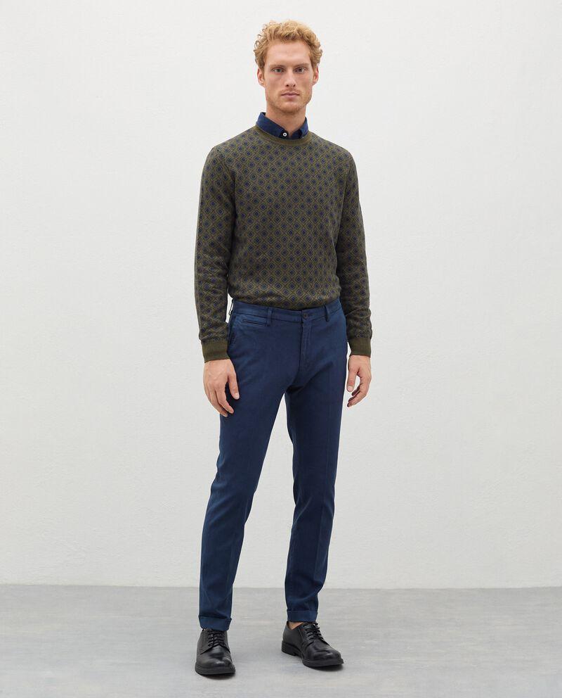 Pantaloni chino in cotone stretch uomodouble bordered 0