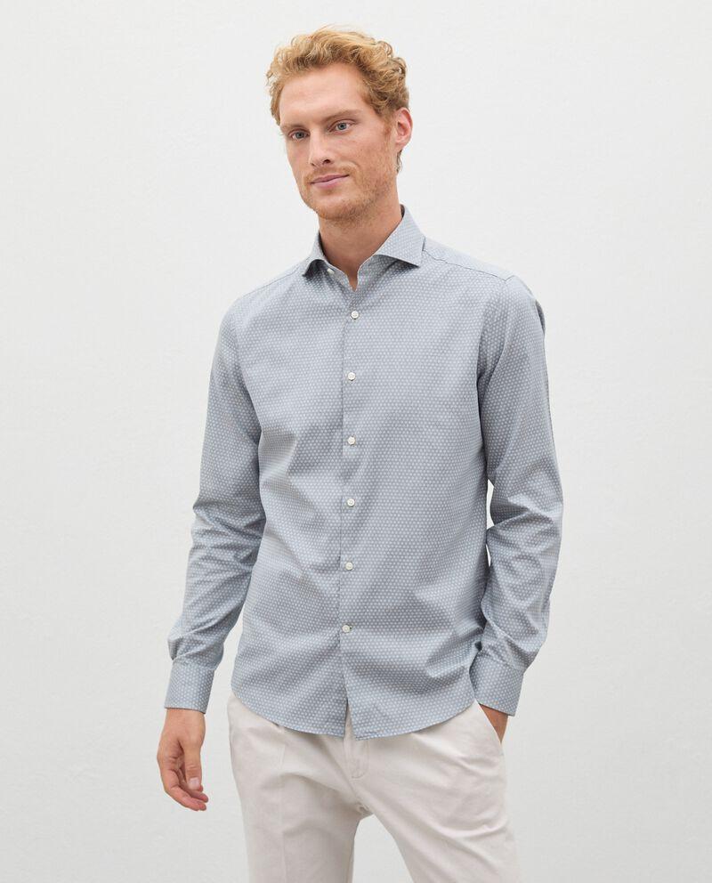 Camicia in fantasia di puro cotone uomo cover