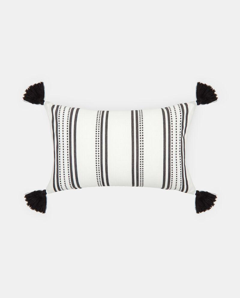 Cuscino in cotone con nappe a righe