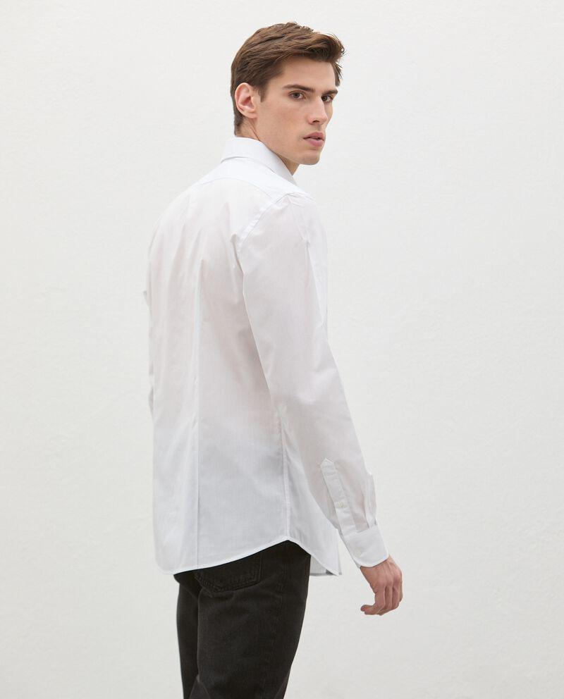 Camicia in cotone tinta unita uomo single tile 1