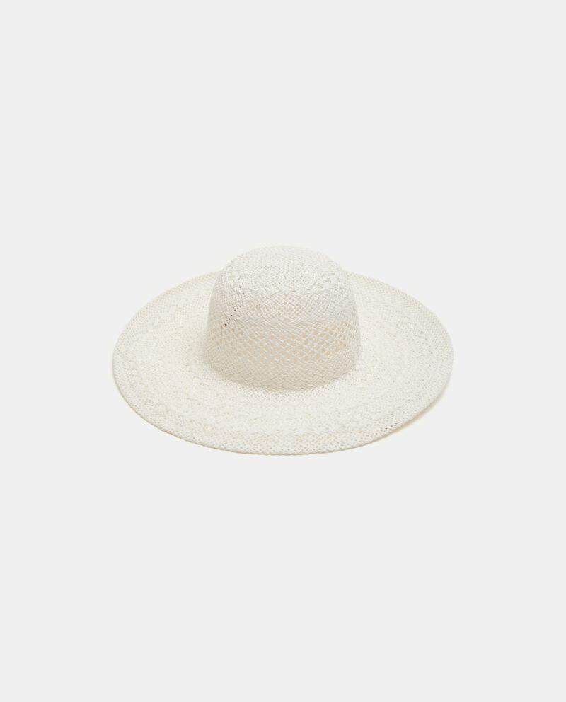 Cappello di paglia in tinta unita donna