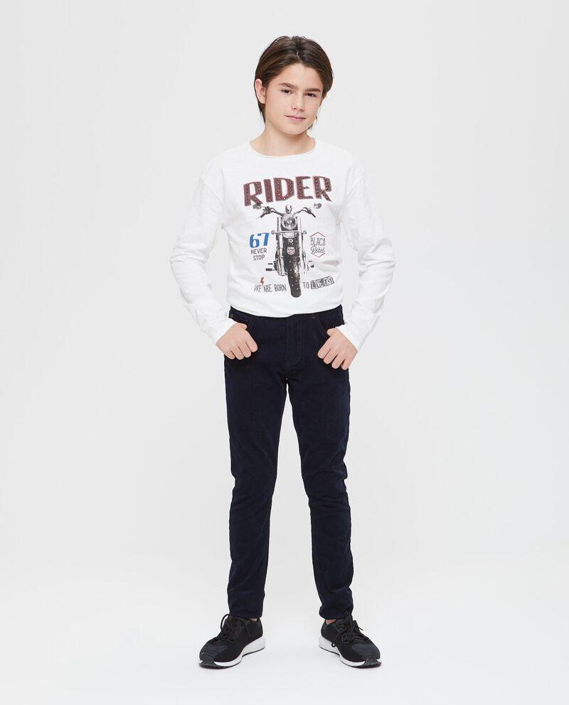 Pantaloni effetto velluto millerighe