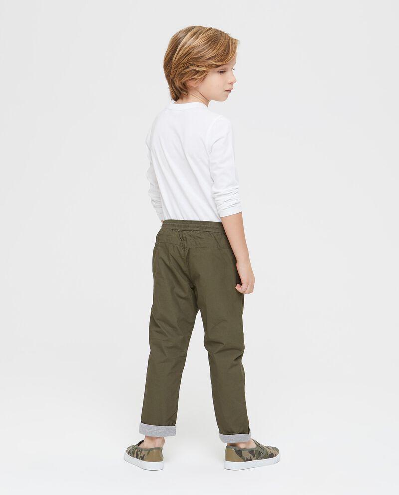 Pantaloni puro cotone tinta unita