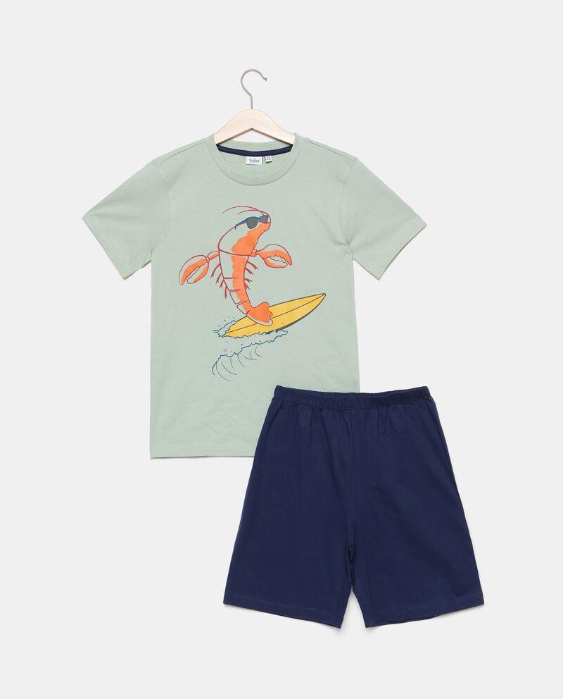 Set pigiama con t-shirt e shorts puro cotone bambinodouble bordered 0