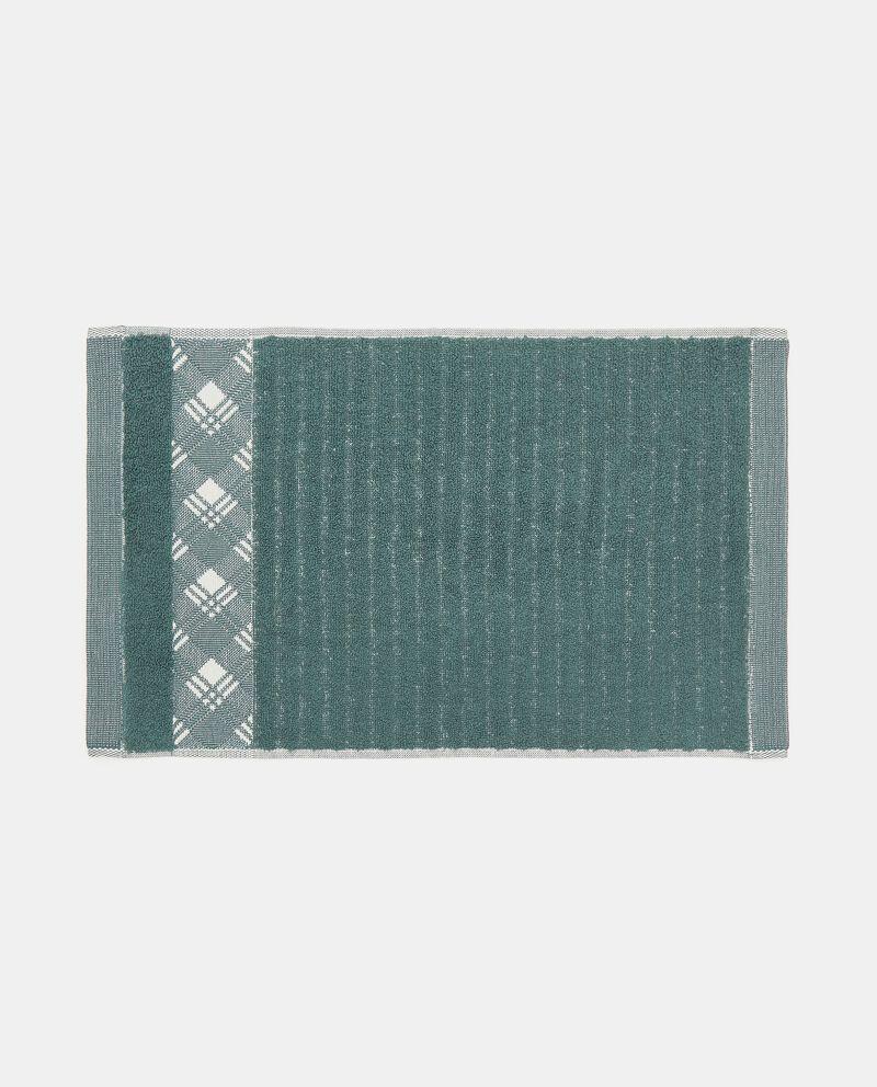 Asciugamano mani in puro cotone con bordo scozzesedouble bordered 1