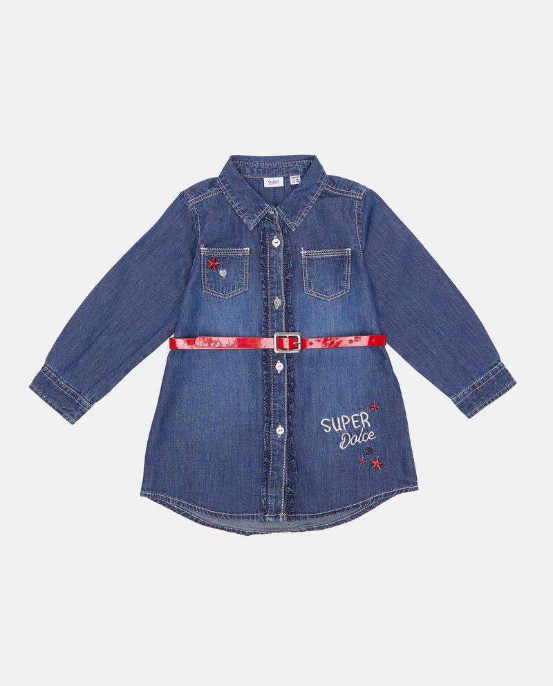 Camicia in denim puro cotone neonata cover