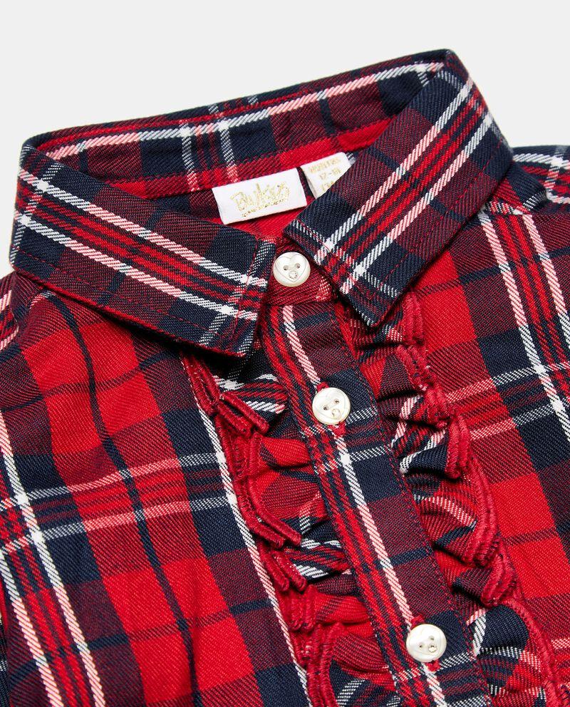 Maxi camicia in fantasia tartan neonata single tile 1