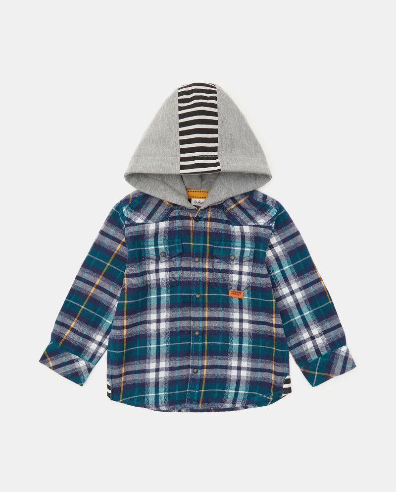 Camicia in flanella tinto filo check neonato cover