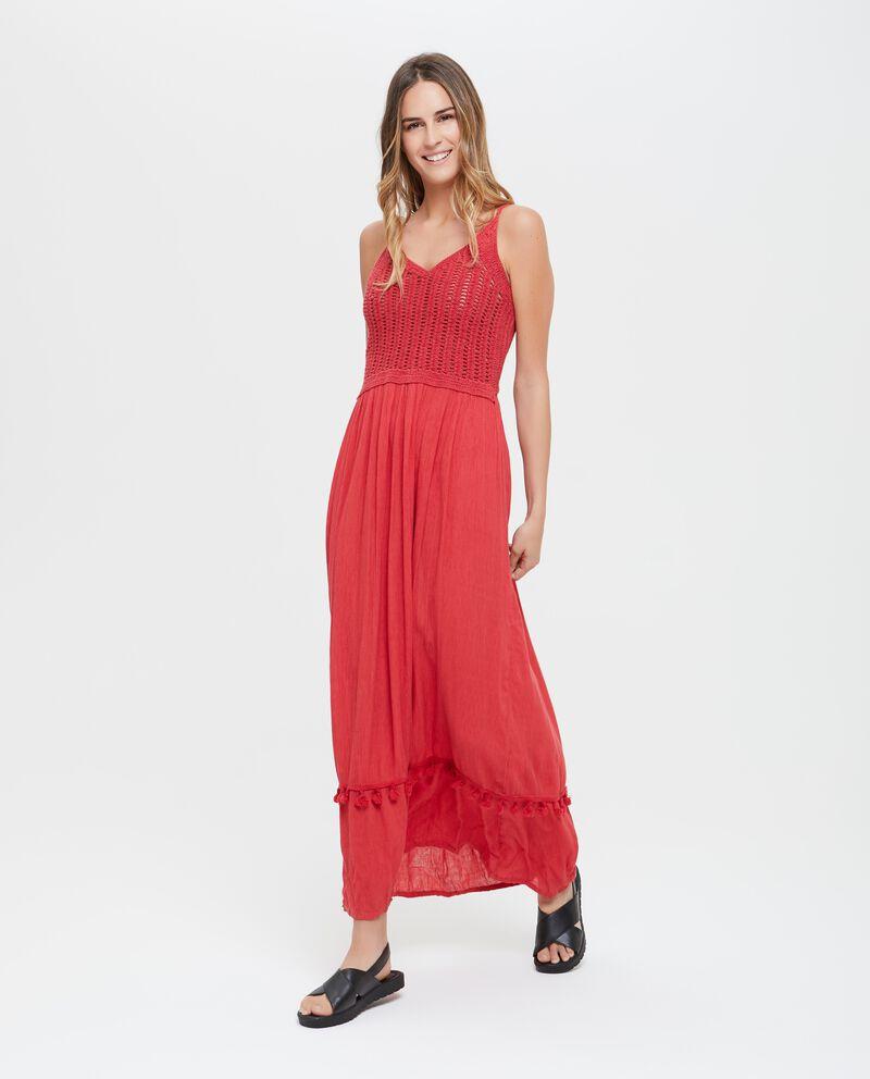 Vestito donna con ricami lungo