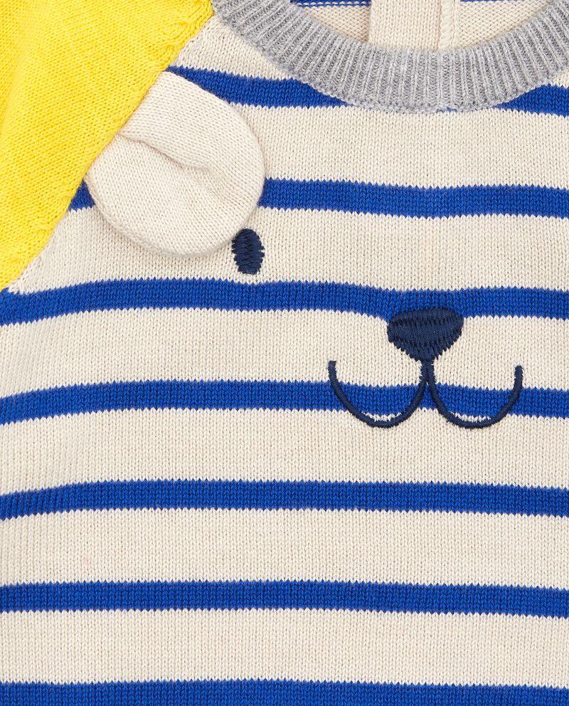 Maglione con maniche a contrasto neonato