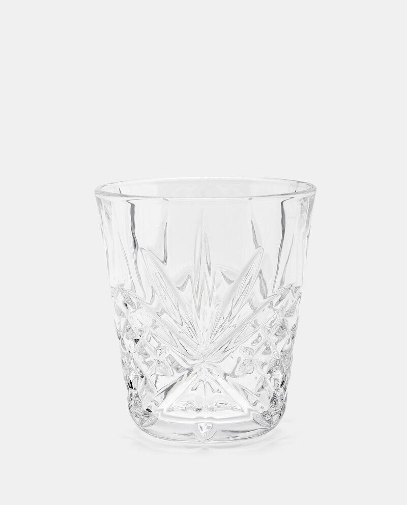 Bicchiere con rilievi in vetrodouble bordered 0