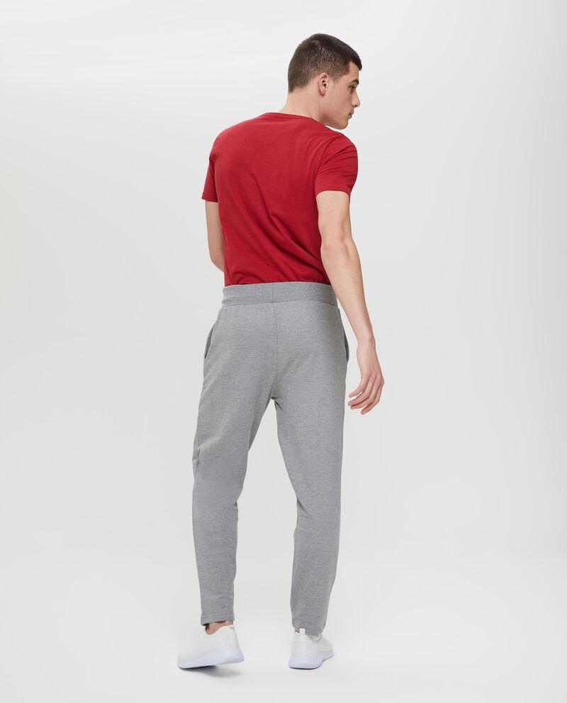 Pantaloni tuta mélange con tasche
