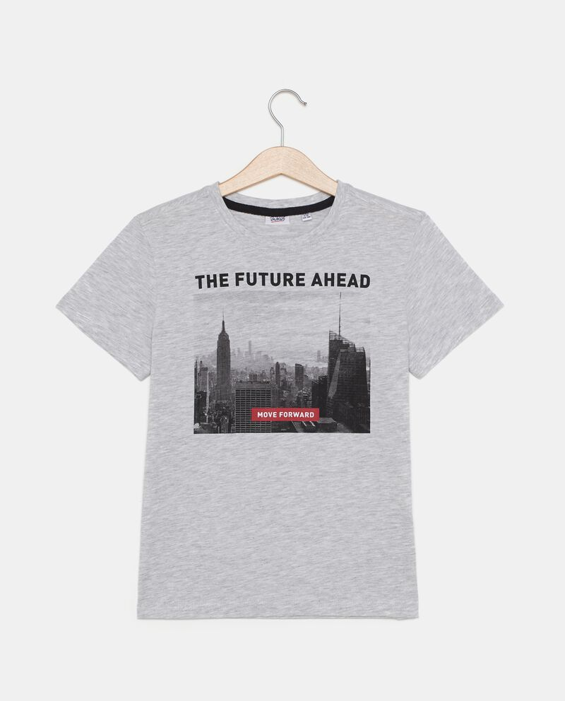 T-shirt con stampa città ragazzo