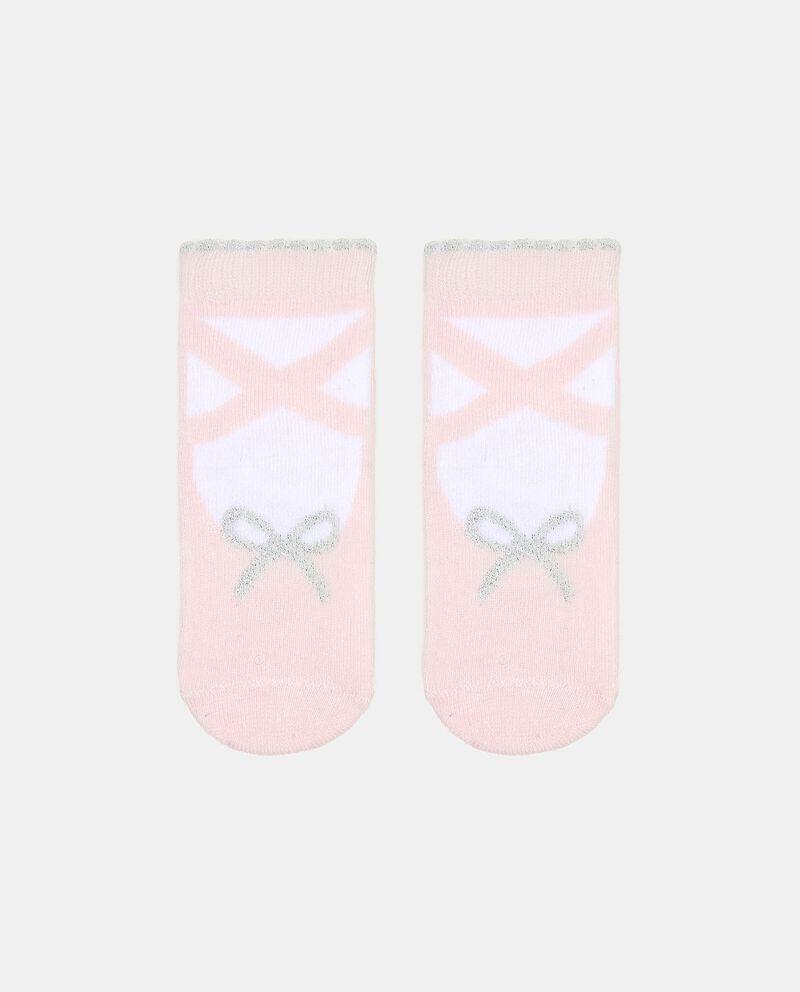 Calzini in cotone elasticato con stampa neonata