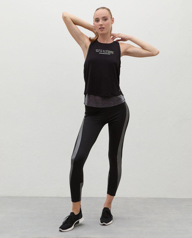 Leggings con inserti Fitness donna cover
