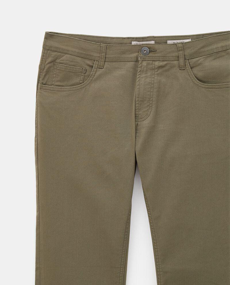 Pantaloni classici di cotone stretch uomo single tile 1