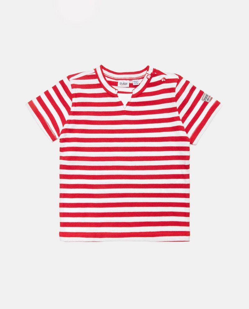 T-shirt rigata in cotone organico neonato cover