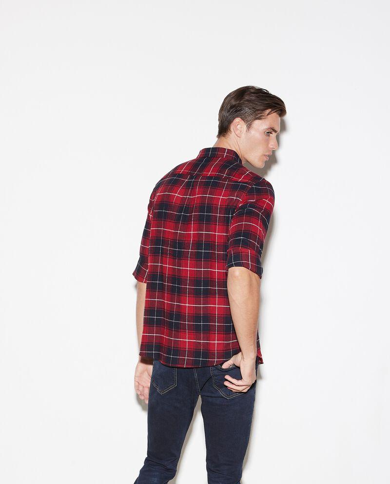 Camicia flanella puro cotone a quadri regular fit uomo