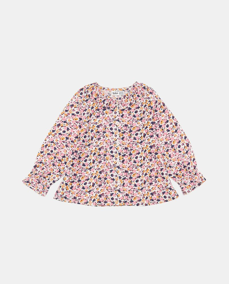 Camicia in viscosa con stampa all over neonata cover