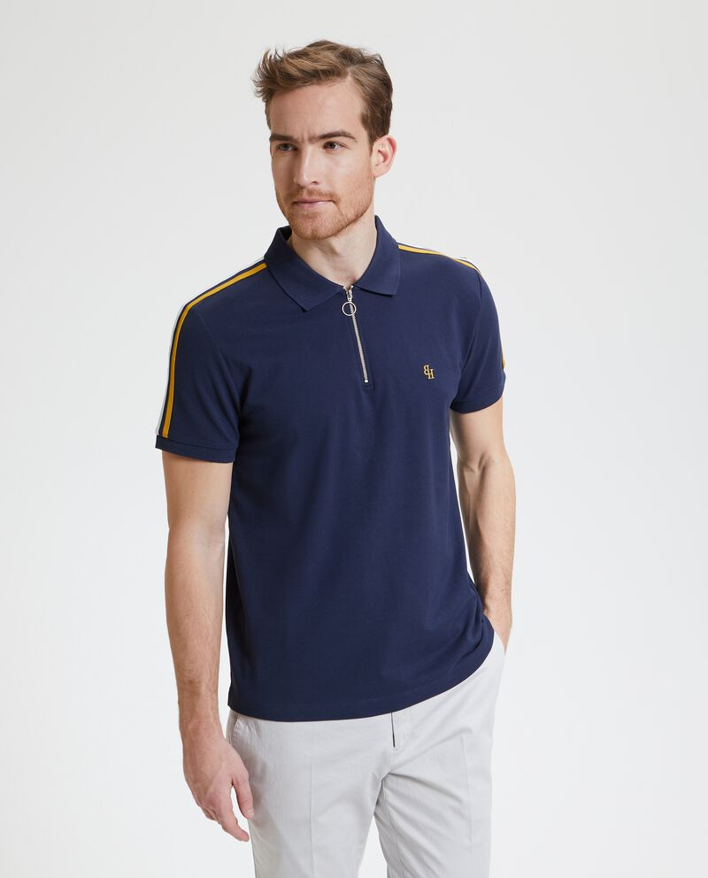 Polo con colletto con zip uomo