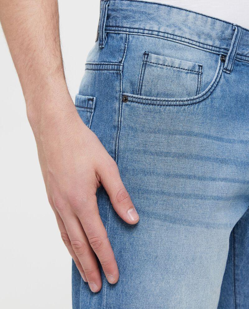 Shorts in denim effetto vintage