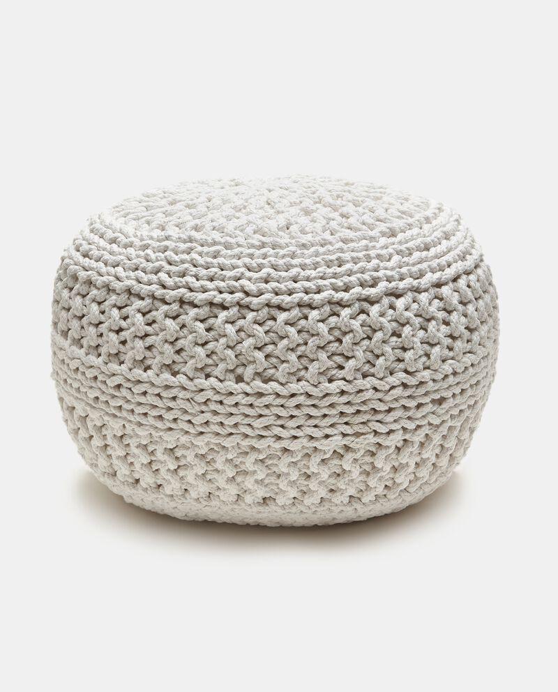 Pouf crochet in cotone cover