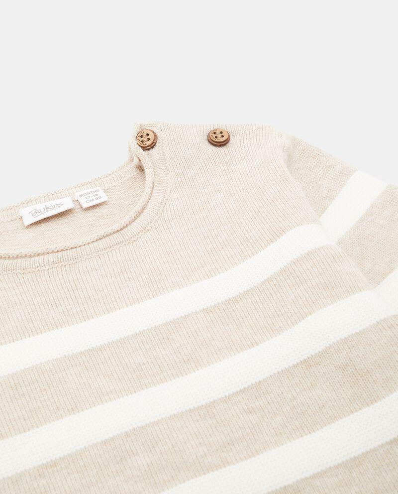 Pullover in puro cotone con motivo a righe neonato