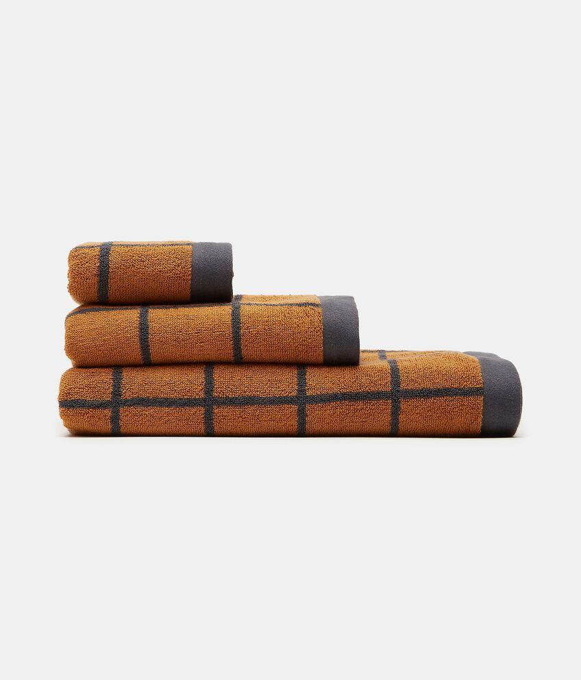 Asciugamano mani con decoro reticolato in puro cotone double 1