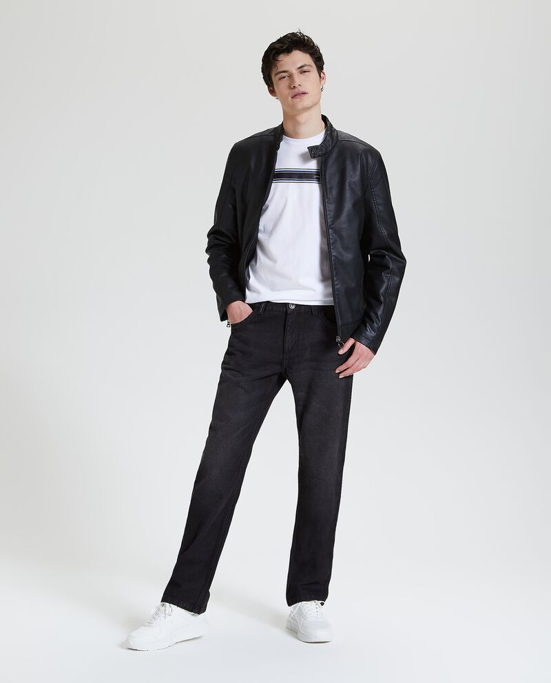 Jeans regular con cinque tasche uomo