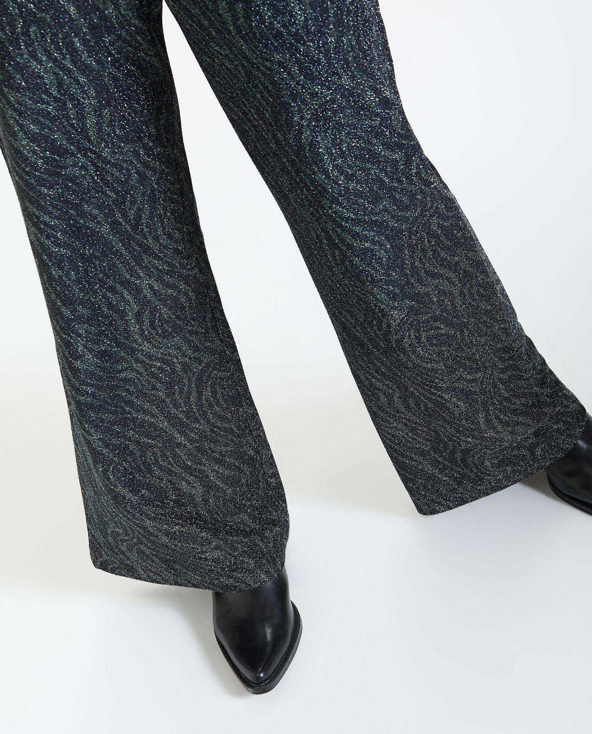 Pantaloni a palazzo in lurex donna