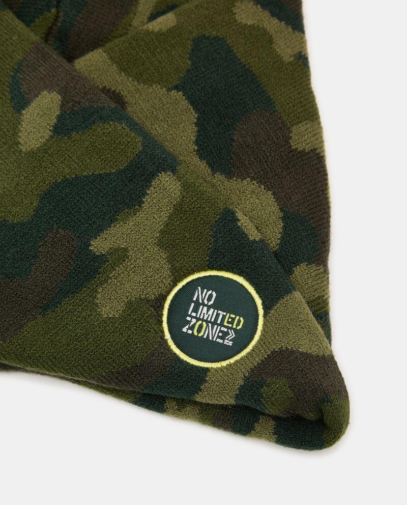 Scaldacollo intrecciato con stampa camouflage single tile 1