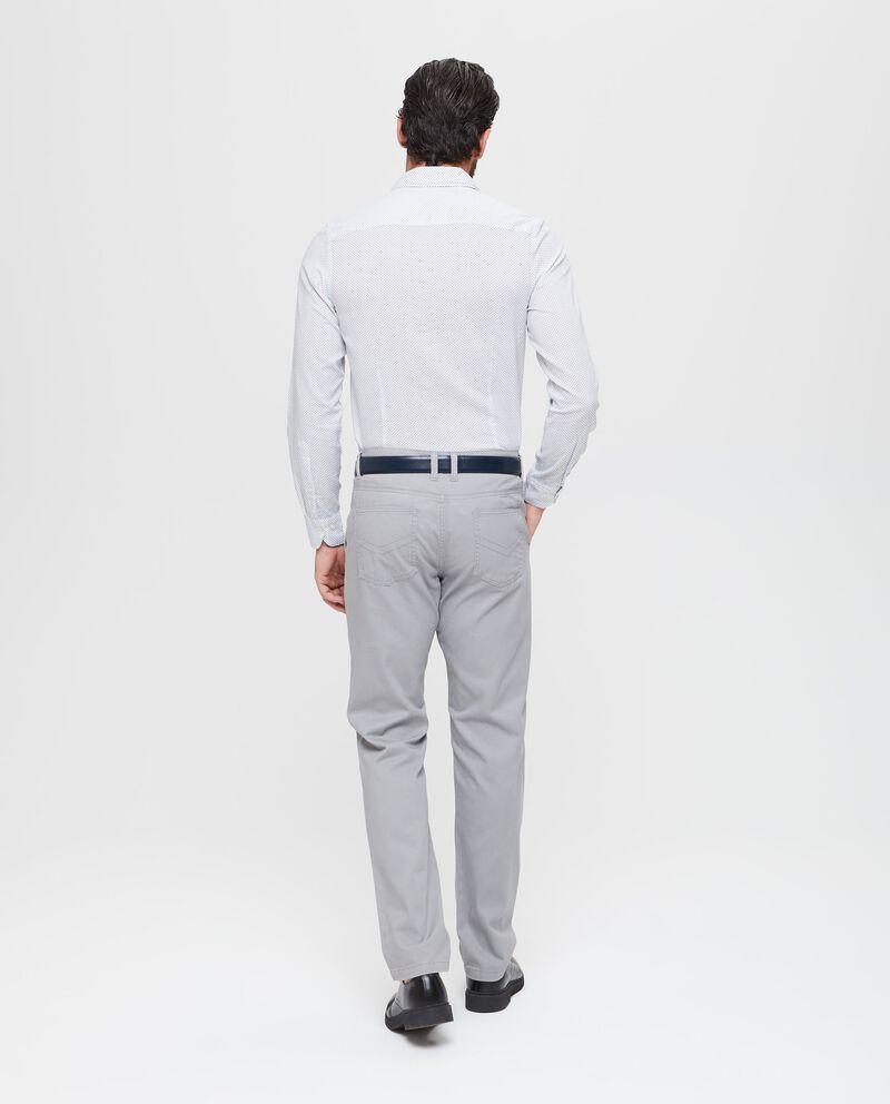 Camicia in puro cotone micro quadri