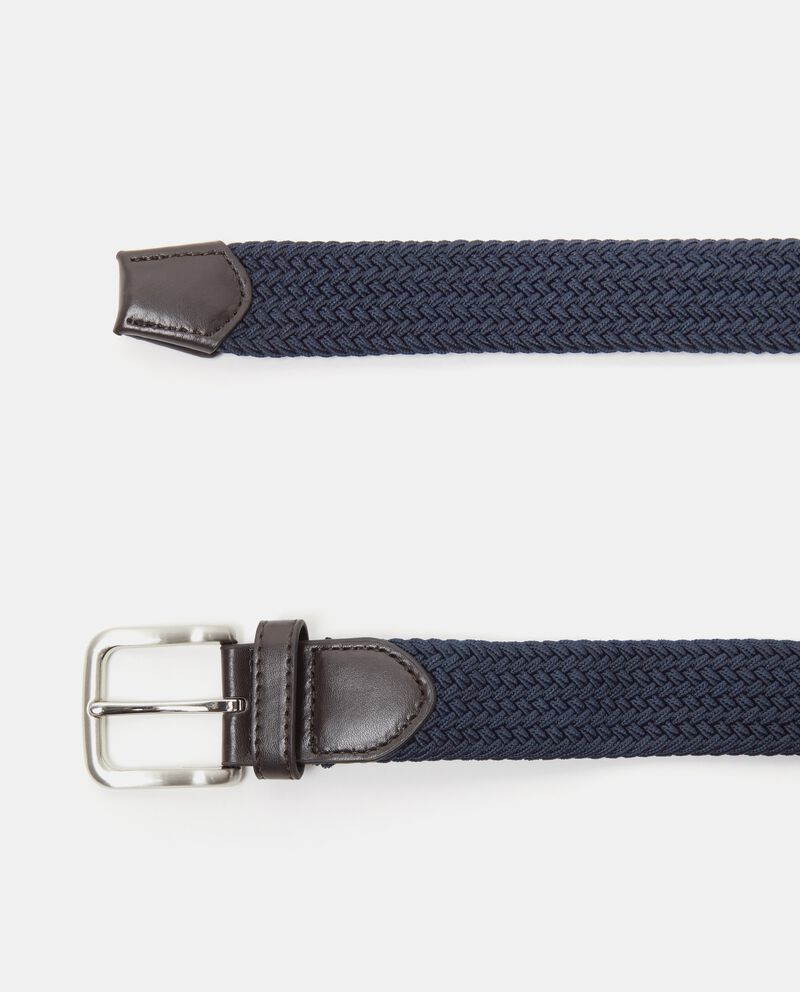 Cintura blu effetto intrecciato tinta unita uomo